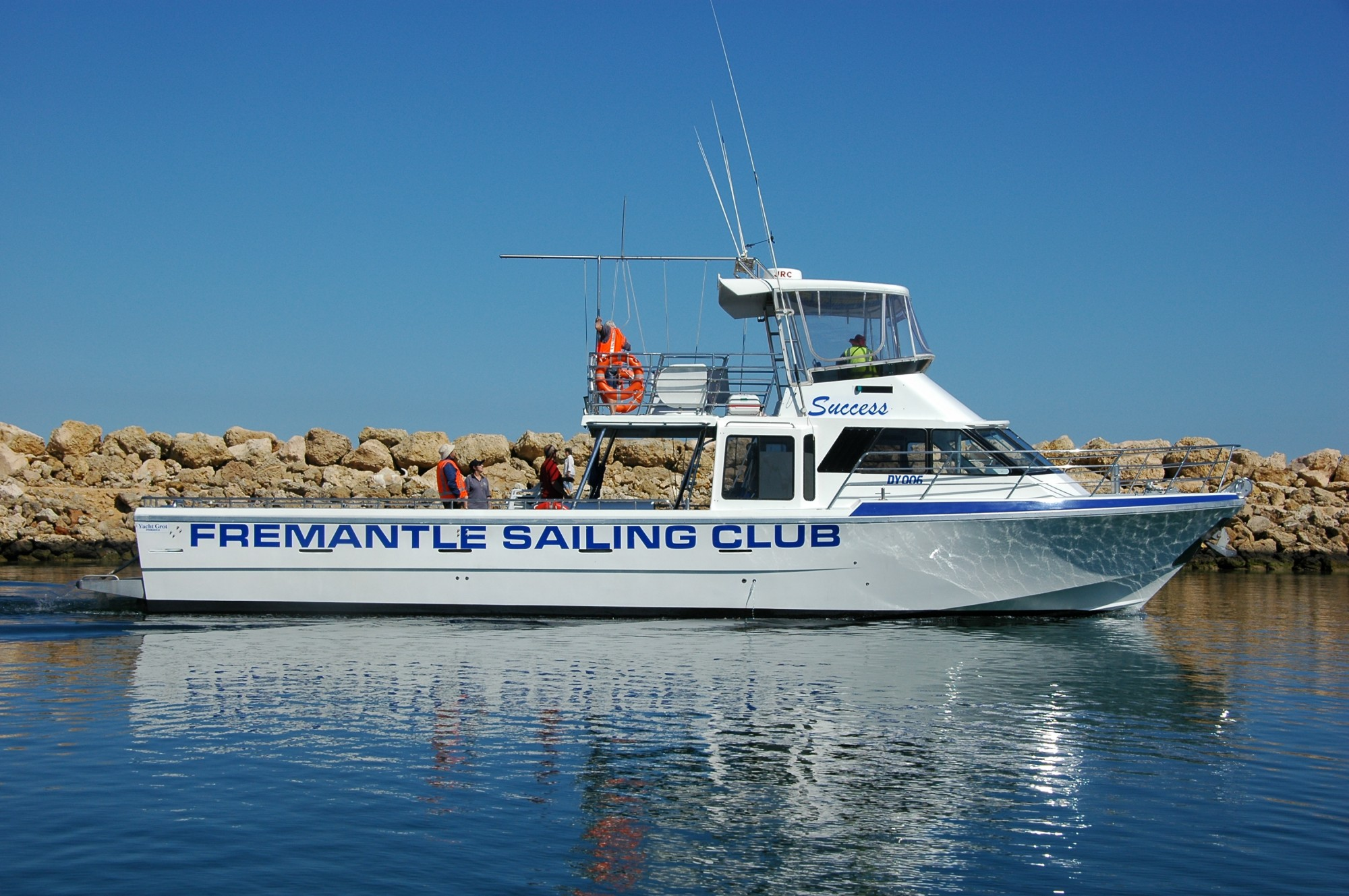 Fremantle sailing club wedding invitations