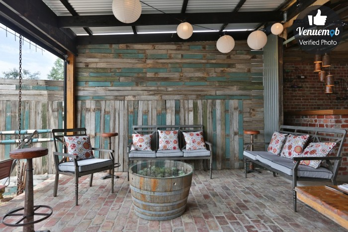 Gorgeous rustic winery Function Area