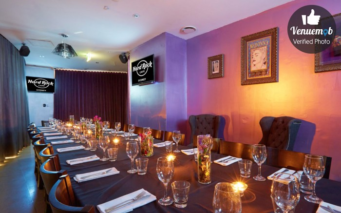 Hard rock cafe sydney book save with venuemob venuemob for Best private dining rooms sydney 2016